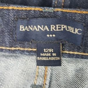 Banana Republic Jeans - Banana Republic Blue Plain Pocket Flare Jeans, 12R
